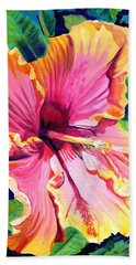 Tropical Bliss Hibiscus Hand Towel