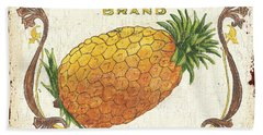 Tropical City Pineapple Hand Towel by Debbie DeWitt