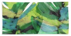 Hand Towel featuring the mixed media Tropical Dreams 1- Art By Linda Woods by Linda Woods