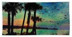 Tropical Evening Hand Towel by Jan Amiss Photography