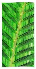 Tropical Foliage Bath Towel