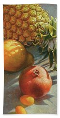 tropical Fruit Large Bath Towel