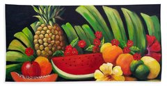Tropical Fruit Hand Towel