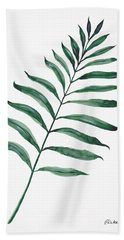 Tropical Greenery - Palm Tree Leaf Hand Towel