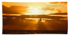 Hand Towel featuring the photograph Tropical Hawaiian Sunset by Michael Rucker