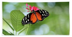 Tropical Hecale Butterfly Hand Towel