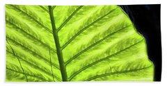Tropical Leaf Bath Towel