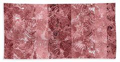 Tropical Leaf Stripes Dusty Cedar Hand Towel