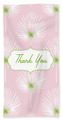 Tropical Leaf Thank You- Art By Linda Woods Bath Towel