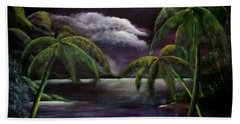 Tropical Moonlight Hand Towel by Luis F Rodriguez