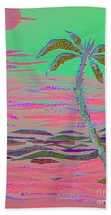 Hot Pink Coconut Palm Hand Towel