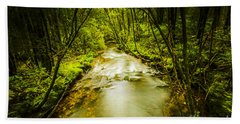 Tropical Rainforest Stream Bath Towel