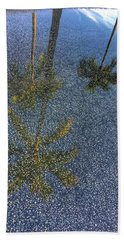 Tropical Reflections 2 Delray Beach Florida  Hand Towel