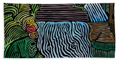 Tropical River Hand Towel