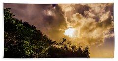 Tropical Sunset Bath Towel