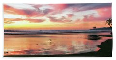 Hand Towel featuring the photograph Tropical Sunset Island Bliss Seascape C8 by Ricardos Creations