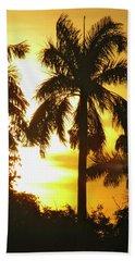 Tropical Sunset Palm Bath Towel