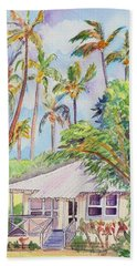 Tropical Waimea Cottage Bath Towel by Marionette Taboniar