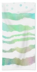Bath Towel featuring the painting Tropical Waves  by Ann Powell