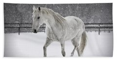 Trot In The Snow Bath Towel