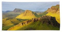 Trotternish Summer Morning Panorama Hand Towel