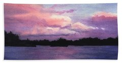 Trout Lake Sunset I Bath Towel