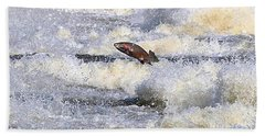 Hand Towel featuring the digital art Trout by Robert Pearson