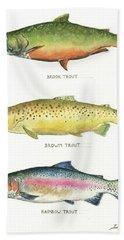 Trout Species Bath Towel
