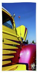 Hand Towel featuring the photograph Truck Art by Linda Bianic