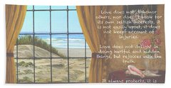 True Love Quote Bath Towel