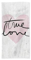 True Love Rustic- Art By Linda Woods Hand Towel