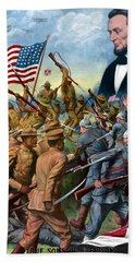 True Sons Of Freedom -- Ww1 Propaganda Hand Towel by War Is Hell Store
