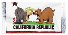Trump And California Face Off Hand Towel