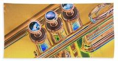 Trumpet Keys Hand Towel