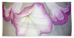 Trumpet Lilies Bath Towel