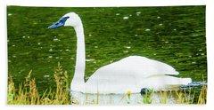 Trumpeter Swan Hand Towel