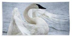 Trumpeter Swan - Misty Display 2 Hand Towel