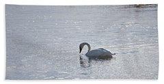 Trumpeter Swan Yellowstone Bath Towel