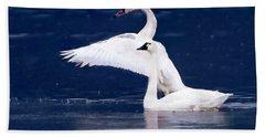 Trumpeter Swans Hand Towel