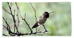 Trumpeting Hummingbird Hand Towel