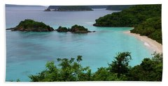 Trunk Bay At U.s. Virgin Islands National Park Hand Towel by Jetson Nguyen