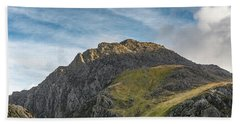 Bath Towel featuring the photograph Tryfan Snowdonia by Adrian Evans