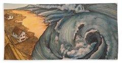 Tsunami  Bath Towel