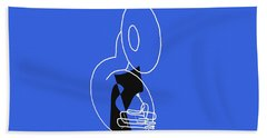 Tuba In Blue Hand Towel
