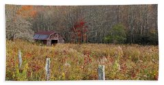 Tucked Away - Barns Hand Towel by HH Photography of Florida