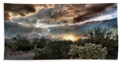 Tucson Mountain Sunset Bath Towel