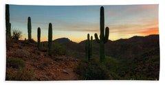 Tucson Mountain Sunset Bath Towel