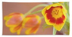 Hand Towel featuring the photograph Tulip Beauty by Deborah  Crew-Johnson