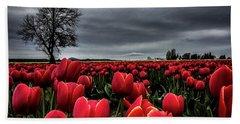 Tulip Fields Bath Towel