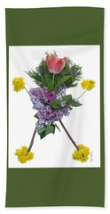 Hand Towel featuring the digital art Tulip Head by Lise Winne